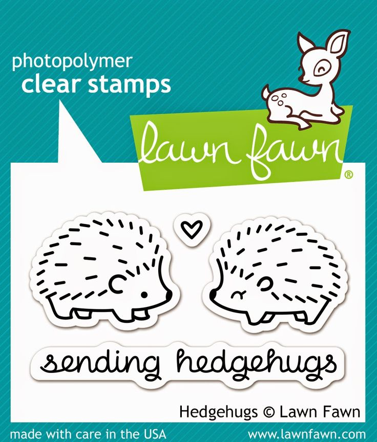 New July 2014 Release from Lawn Fawn-Hedgehugs, comes with coordinating Lawn Cuts