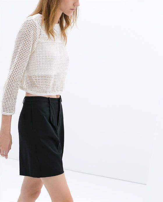 PLEATED SHORTS from Zara