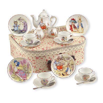 Beatrix Potter childrens tea set.