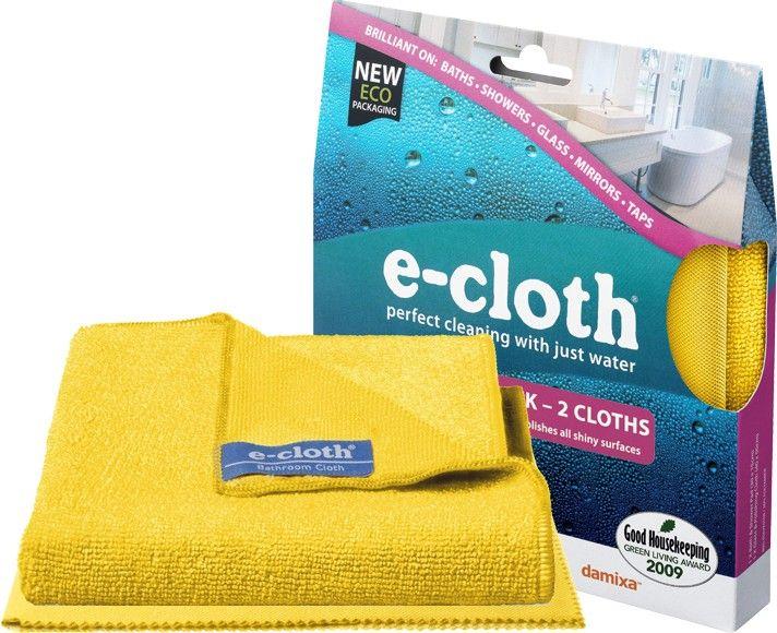 E-cloth doek ® zal wijzig de manier waarop U reinigt Uw badkamer Heeft U wel eens zorgen als U baadt in reinigingsmiddelen nadat U Uw bad heeft geschoond?  Hoeveel water heb U verspild aan die reinigingsmiddelen weg te spoelen? Met e-cloth doek ®, heeft badkamer schoonmaken nog nooit zo veilig en eenvoudig.