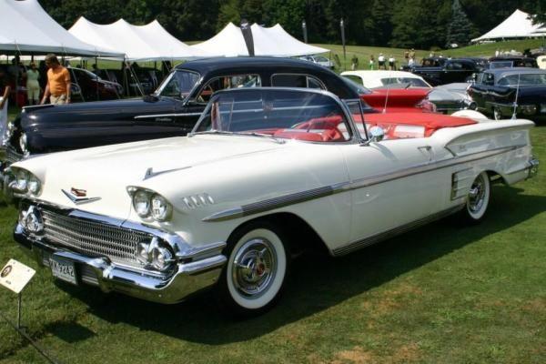 1958 Chevrolet Impala convertible.