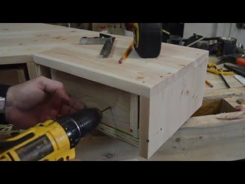 How To Make A Pallet Wood Monitor Desk Riser With Drawers   Part 2