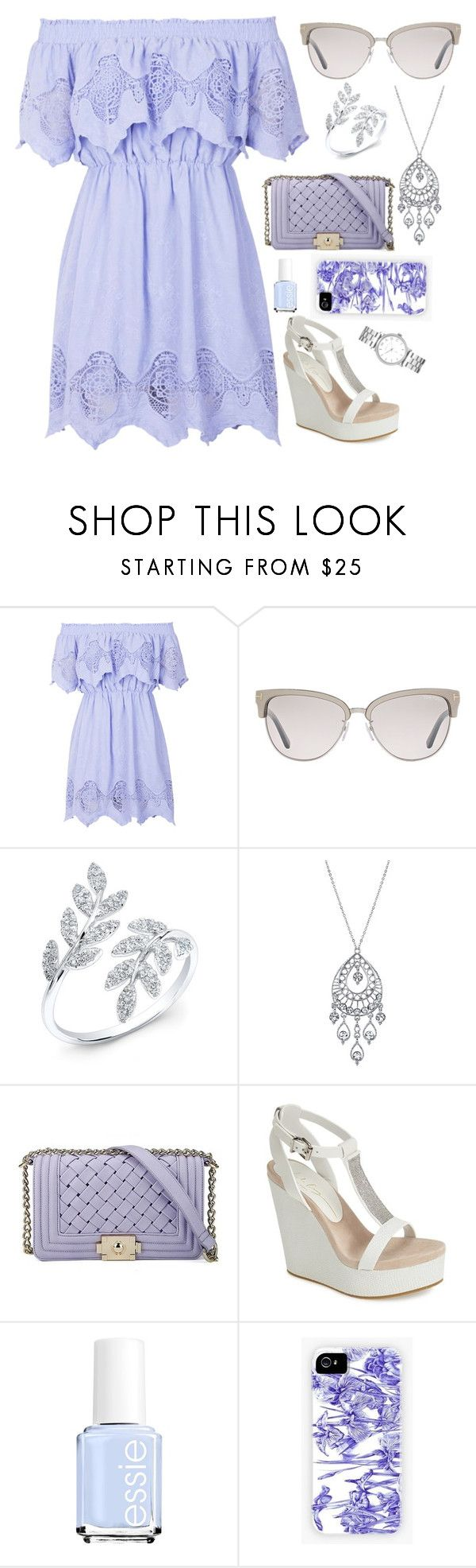 """Lilac Dreams"" by beth-johnson ❤ liked on Polyvore featuring Topshop, Tom Ford, 1928, Lola Cruz, Essie and Marc by Marc Jacobs"