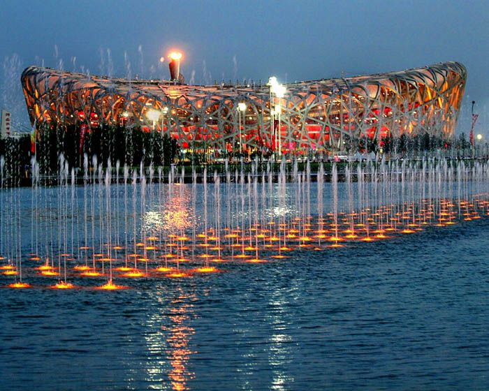 2008 Summer Olympics flame at Beijing National Stadium 1 - Beijing National Stadium - Wikipedia, the free encyclopedia