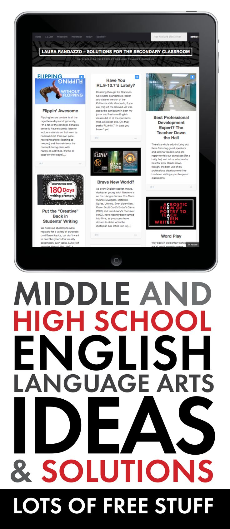Fresh ideas to add to your English/Language Arts classroom. #highschoolEnglish #middleschoolEnglish
