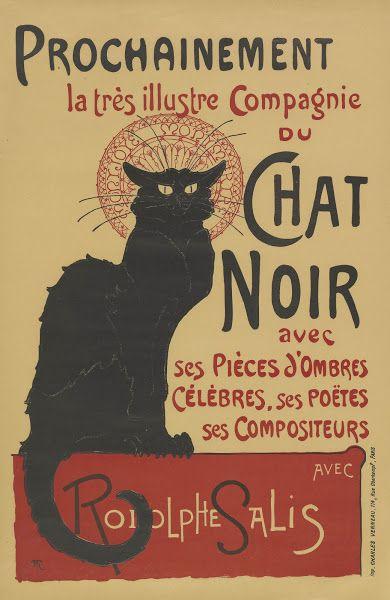 Affiche voor de tournee van Le Chat Noir, 1896, Théophile Alexandre Steinlen, Van Gogh Museum, Amsterdam