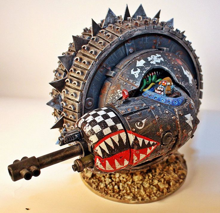 lexicanumwiki:   Ork Wheel-O-Doom by ~billking  Words are not needed to describe the amazingness