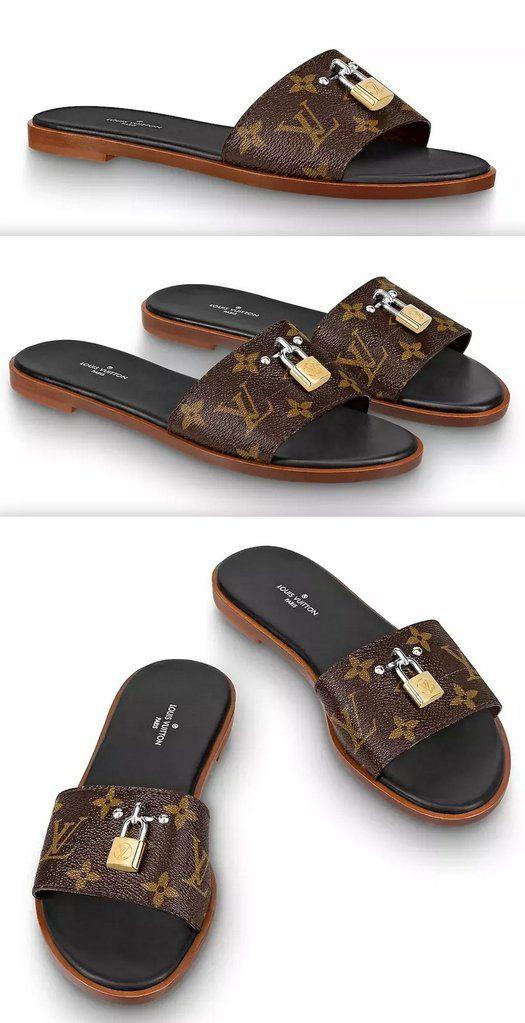 5fe79adfe5d9a Lock It' Monogram Mules | Shoes in 2019 | Shoes, Louis vuitton flip ...