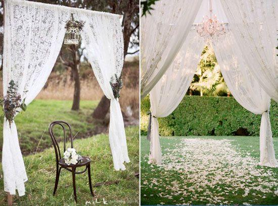 03 spitze hochzeit deko dekoartikel altar hochzeit traumhaft dekoration romantisch Hochzeit Deko Idee – Spitze ist spitze