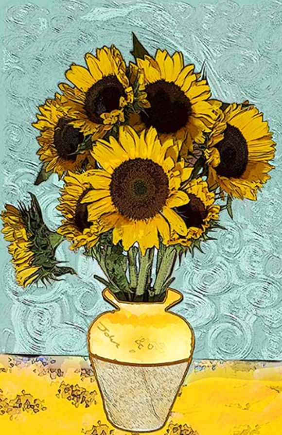 Artist: Vincent Van Gogh Title: Sunflowers