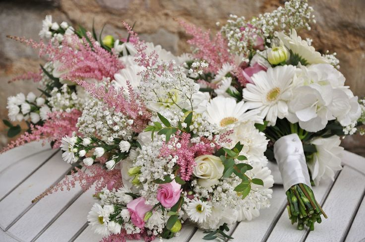 Gallery: Country Garden | Helen Jane Floristry - pink and cream natural style posies