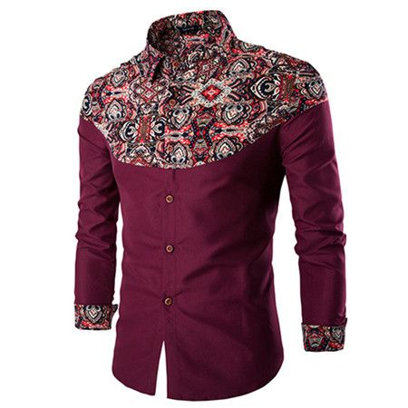 FLORAL AND WHITE MEN SHIRT