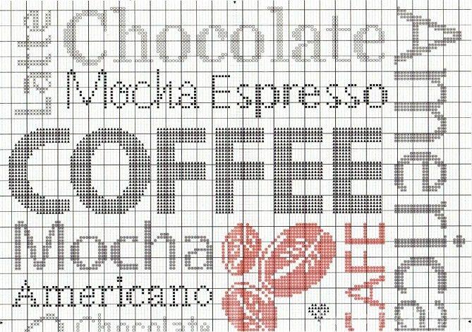coffee cross stitch - I'm so doing this!