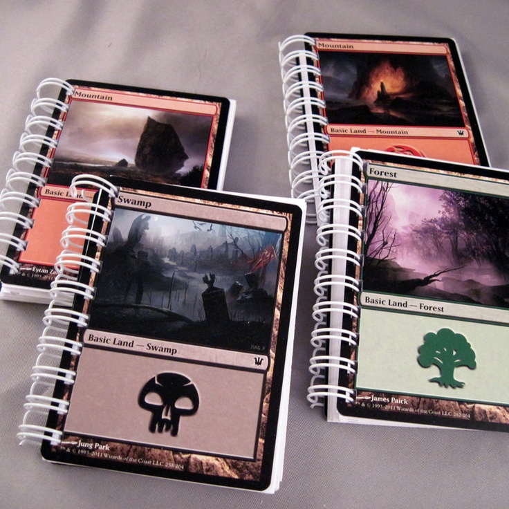 Magic the Gathering Recycled Mini Notebook Lot of 3. $6.00, via Etsy.