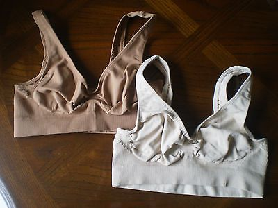 New Victoria's Secret TWO bras Body style Size Small no wireBrown light tan  $12
