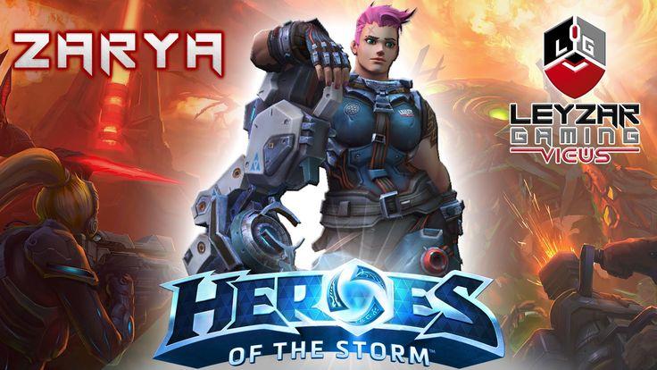 Heroes of the Storm (Gameplay) - Zarya on Warhead Junction (HotS Zarya G...