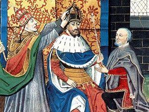 Charlemagne's coronation  in 800 ... [ita] http://www.romeandart.eu/it/arte-incoronazione-carlo-magno.html