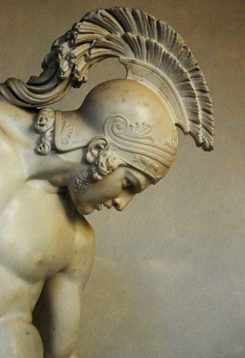 Achilles (head detail) by Innocenzo Fraccaroli Villa Reale di Milano, Italy.