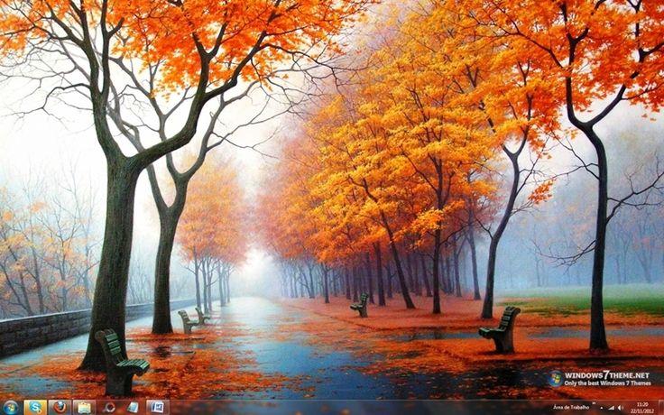 Autumn Theme for Windows 7 | Autumn Road Windows 7 Theme