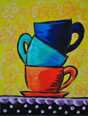 Baking Mugs With Acrylic Paint