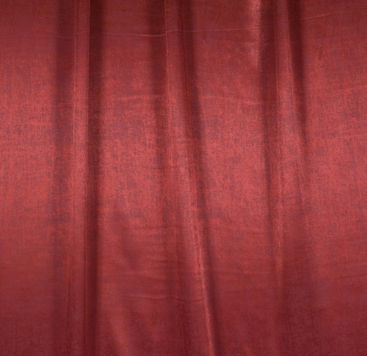 Red shiny drapery fabric - Xavier Salsa by Charles Parsons Interiors #red #fabric #drapery #curtain #shiny #charlesparsonsinteriors