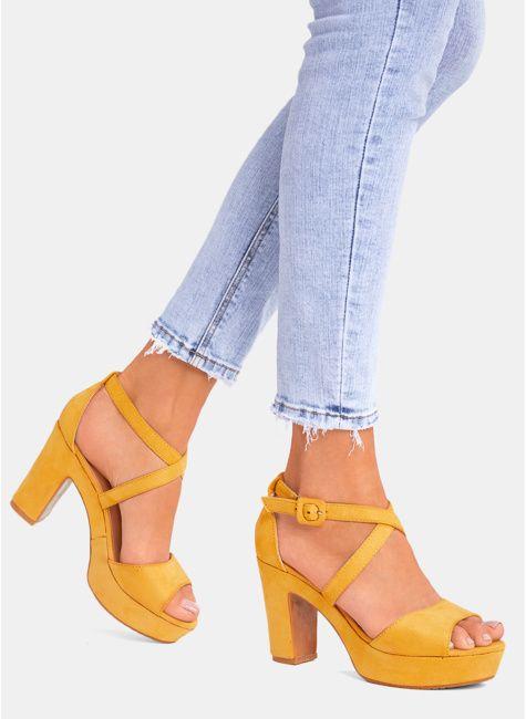 Sandaly Damskie Na Slupku Platformie Sportowe Z Pomponami Deezee Shoes Heels Fashion
