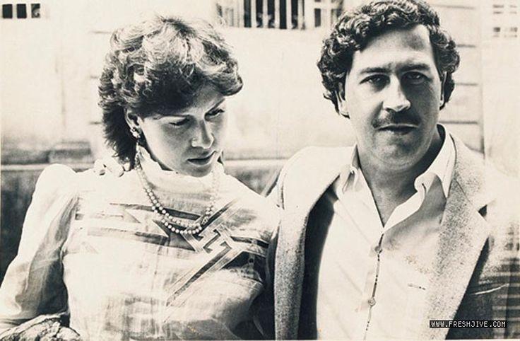 Pablo Escobar and his wife, Victoria Henao