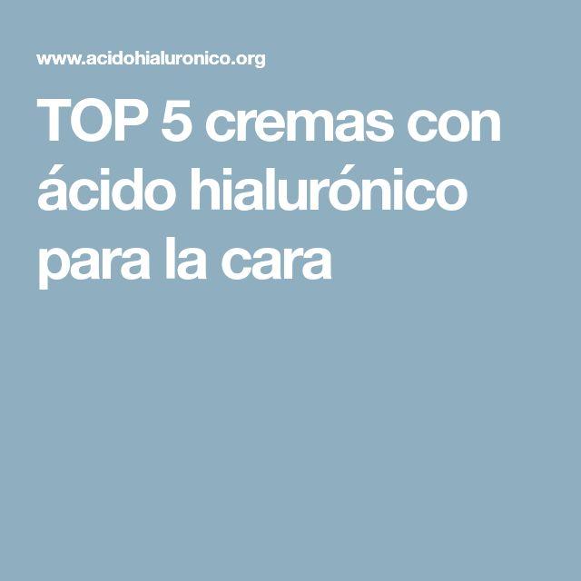 TOP 5 cremas con ácido hialurónico para la cara