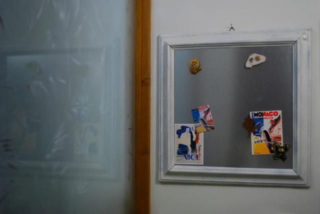 Framed Magnetic Board. ©seaseight blog http://seaseight.blogspot.it/2012/09/diy-framed-magnetic-board.html