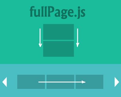 fullPage.js – jQuery Plugin for Fullscreen Scrolling Websites. I rarely post plugins, but I might actually use this one.