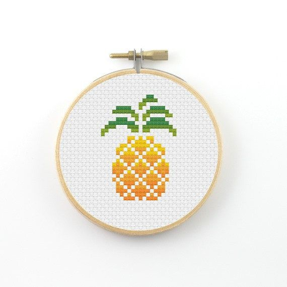 Pineapple Cross Stitch pattern pineapple pattern minimalist
