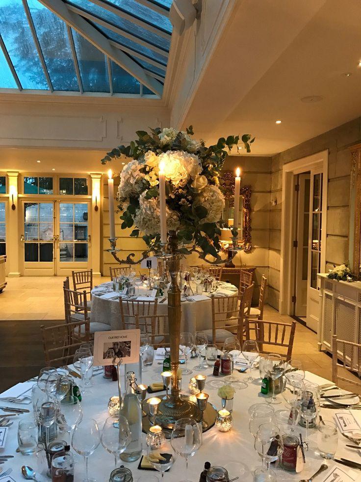 Winter Wedding Table Flowers - by Joeanna Caffrey Flowers