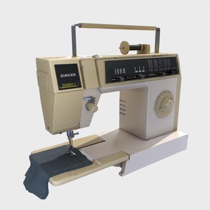 Detailed Sewing Machine - PBR Asset, Francesco Furneri on ArtStation at https://www.artstation.com/artwork/PZ4Y1?utm_campaign=notify&utm_medium=email&utm_source=notifications_mailer
