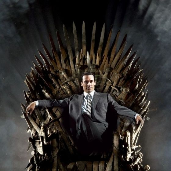 Don Draper On The Iron Throne Pinterest Other Game
