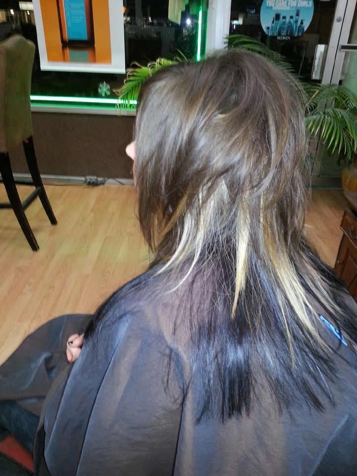 Image result for disconnected haircut women shag
