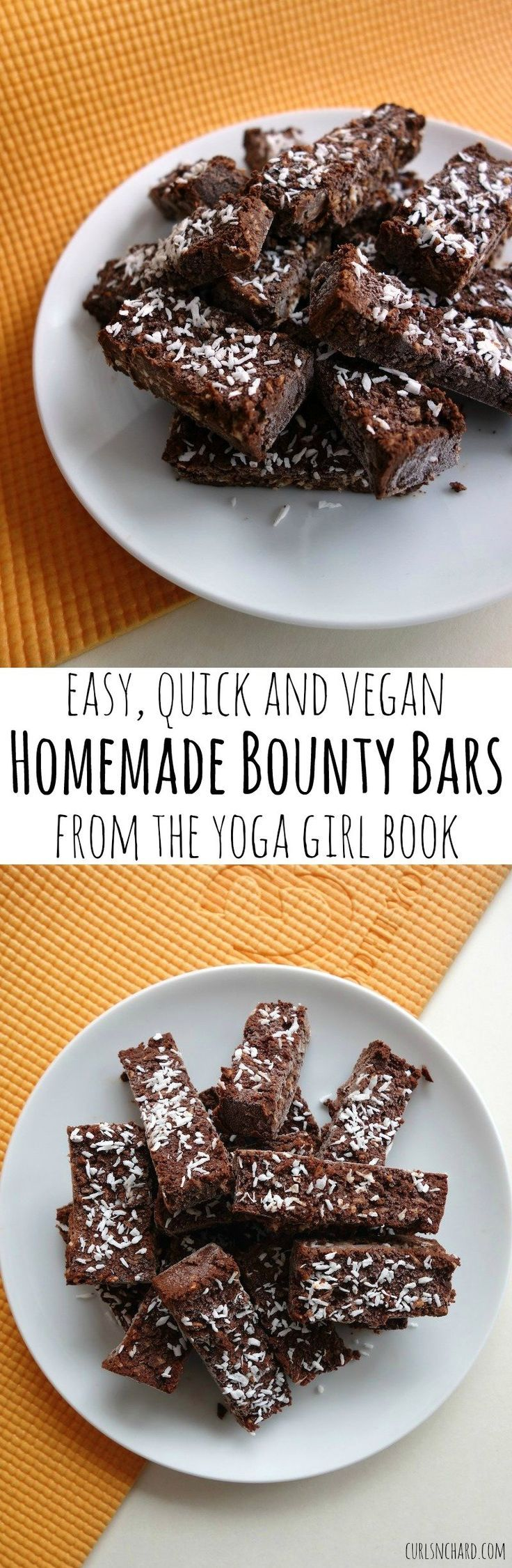 Homemade Bounty Bars from Yoga Girl Rachel Brathen (vegan, gluten-free) | curlsnchard.com