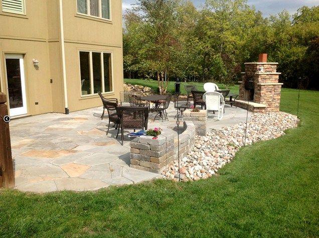 Backyard Flagstone Patio  Backyard Landscaping  Turf Designers  Lees Summit, MO
