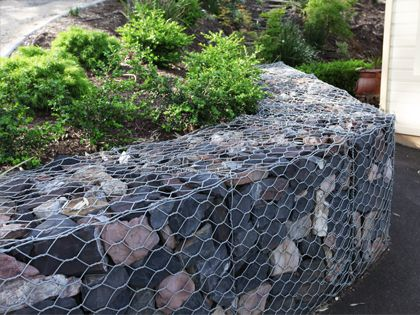 Bluestone Gabion retaining wall
