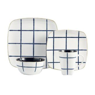 American Atelier Squares 16 Piece Dinnerware Set, Service for 4