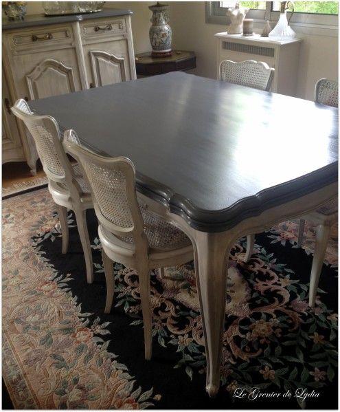tables et chaises patinées style Gustavien patine naturelle écologique, pigments le Grenier de Lydia patine sur meubles val d'oise