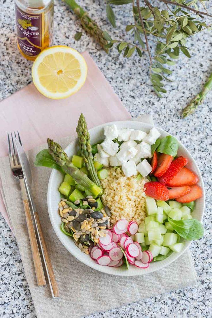 Asparagus and bulgur veggie plate