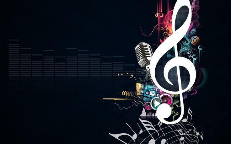 микрофон, скрипичный ключ, Музыка
