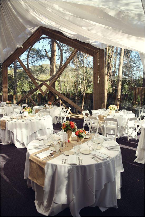 Indoor Outdoor Patio Wedding