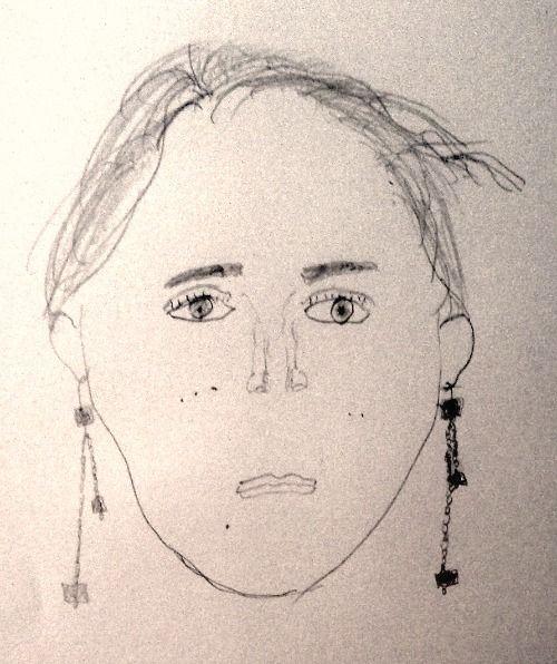 Jenny's self-portrait before instruction.