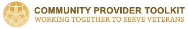 Community Provider Toolkit = working together to serve veterans. This site features key tools to support the mental health services you provide to Veterans. You can find information on connecting with VA, understanding military culture and experience, as well as tools for working with a variety of mental health conditions (found under Mental Health and Wellness).