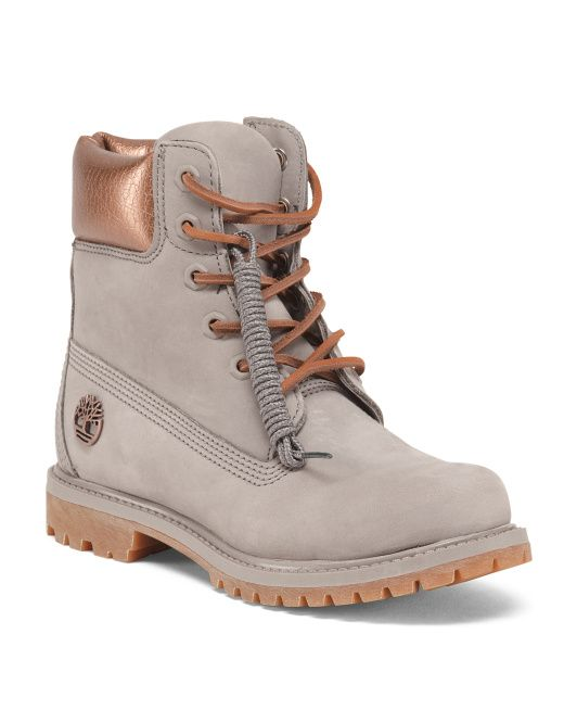 timberland leather boots grey rose gold 79.99  93b2f0c1247