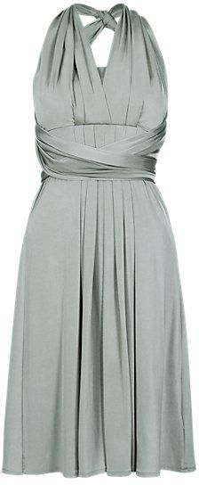 Pin for Later: 50 High Street Bridesmaid Dresses That Will Satisfy Even the Pickiest Bride  M&S Collection Silver Multiway Bodice Skater Bridesmaid Dress (£55)