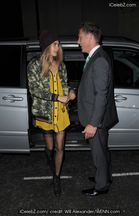 Cara Delevingne http://www.icelebz.com/events/cara_delevingne_arrives_home_late_at_night_with_a_male_companion/photo1.html