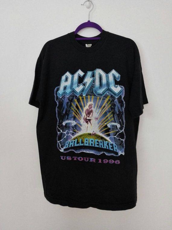 Vintage 1986 Ac Dc North American Tour Tshirt By Pacificwonderland 100 00 Cool T Shirts Acdc Shirt T Shirt