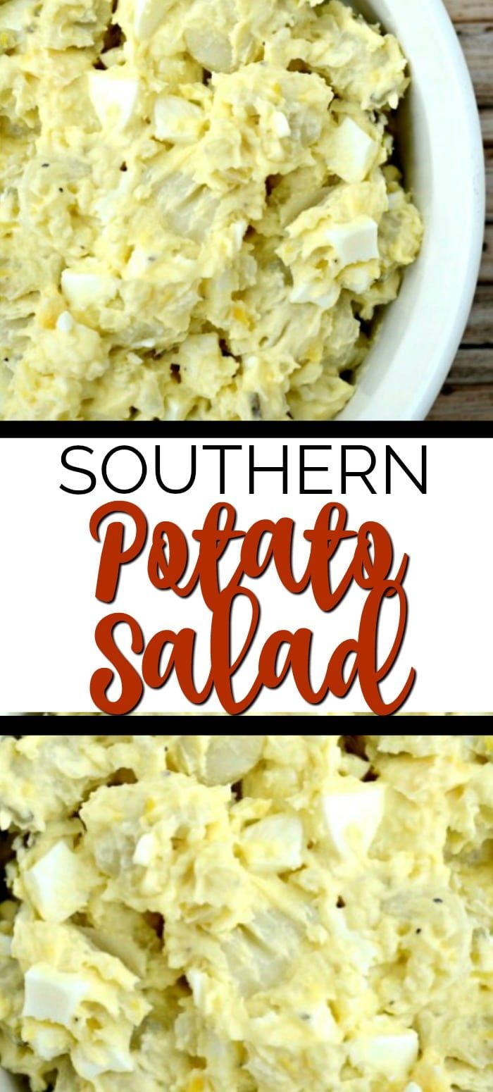 The Best Southern Potato Salad Recipe!  A classic, Creamy version with hard boil…